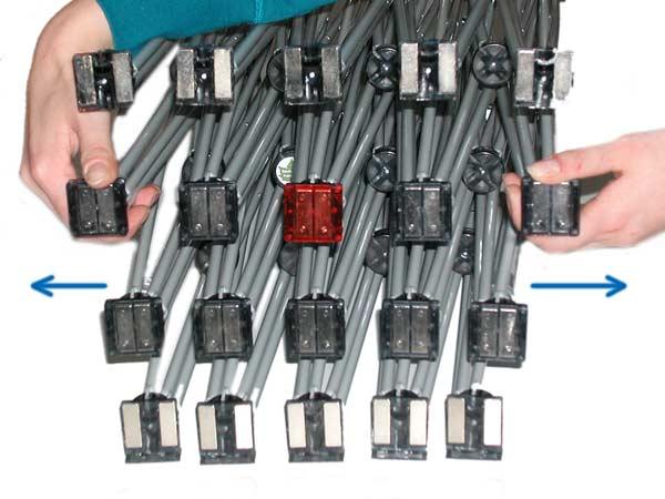 Popup Display X12 Gerüst zum Aufbauen auseinander ziehen